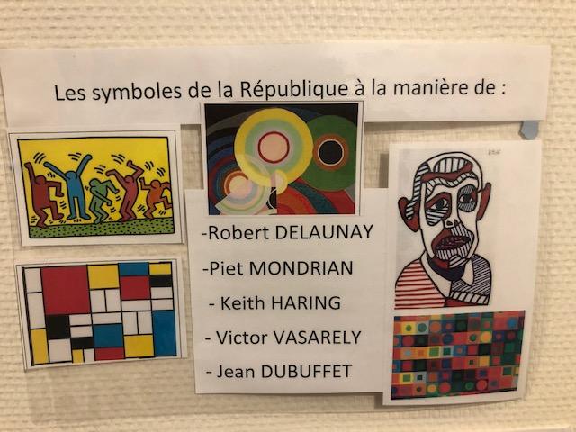 Les symboles de la République à la manière de ...